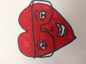 Thought I would have a little fun. I did a drawing of me as a heart. Hope you enjoy as much as me