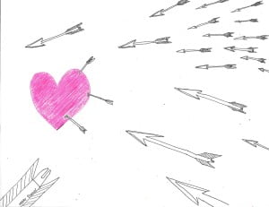 the heart takes an arrow or two
