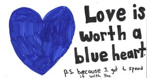 love is worth a blue heart
