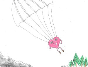 love is always falling. Good thing it has a parachute