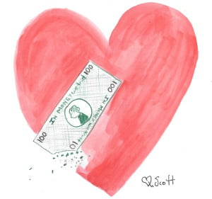 money can't be more important than love
