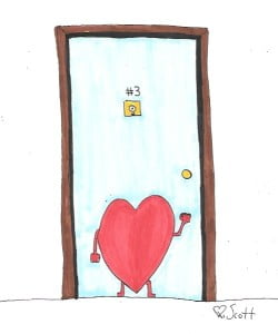 love is at the door.
