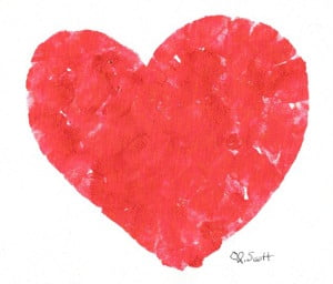We leave our fingerprints on our hearts.