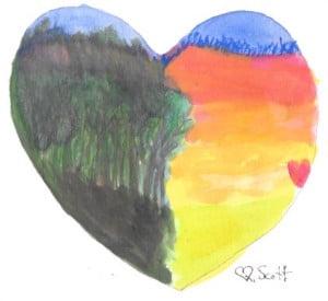 No matter how dark the forest is love always shine.