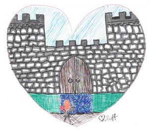 There was no amount of battlements that was going to stop her from freeing my heart to love.