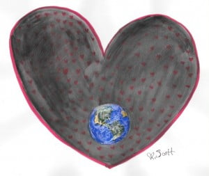 lets fill the whole earth with love and then the universe.