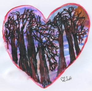 Love is every where. It's in the sky, it's in the trees, and it's in the hearts of those that refuse to see.