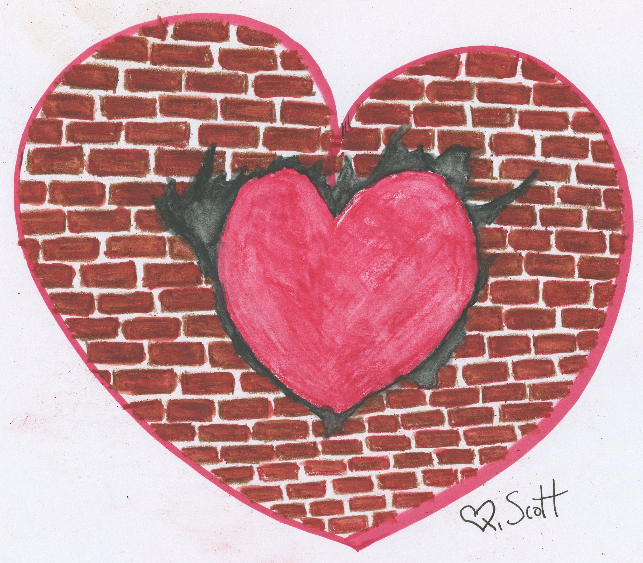 My heart is going to break through this old wall we call life.