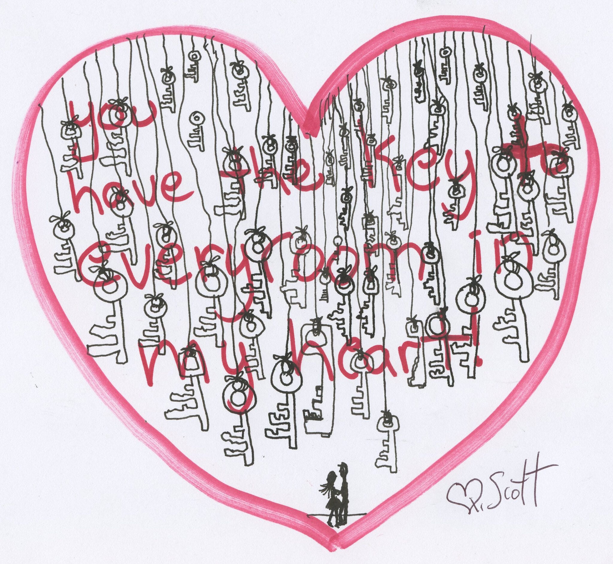 You have the key to every room in my heart.