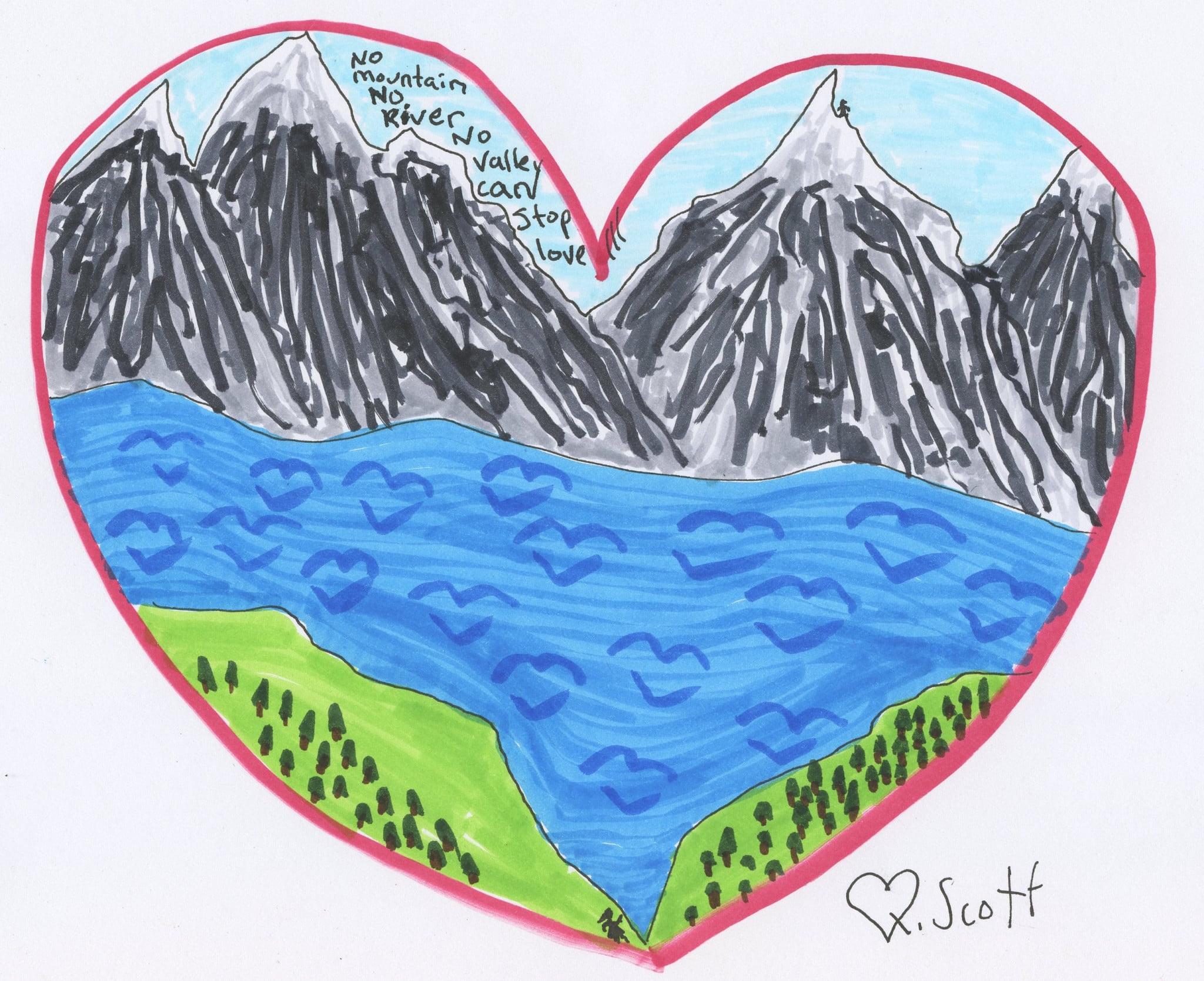 No mountain No river No valley can stop love