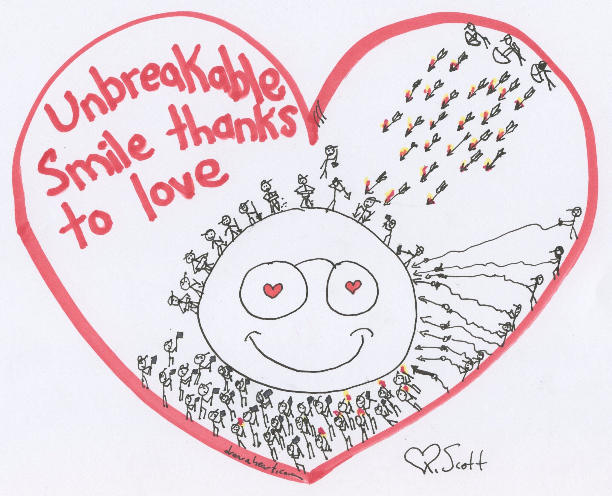 Unbreakable smile thanks to love.
