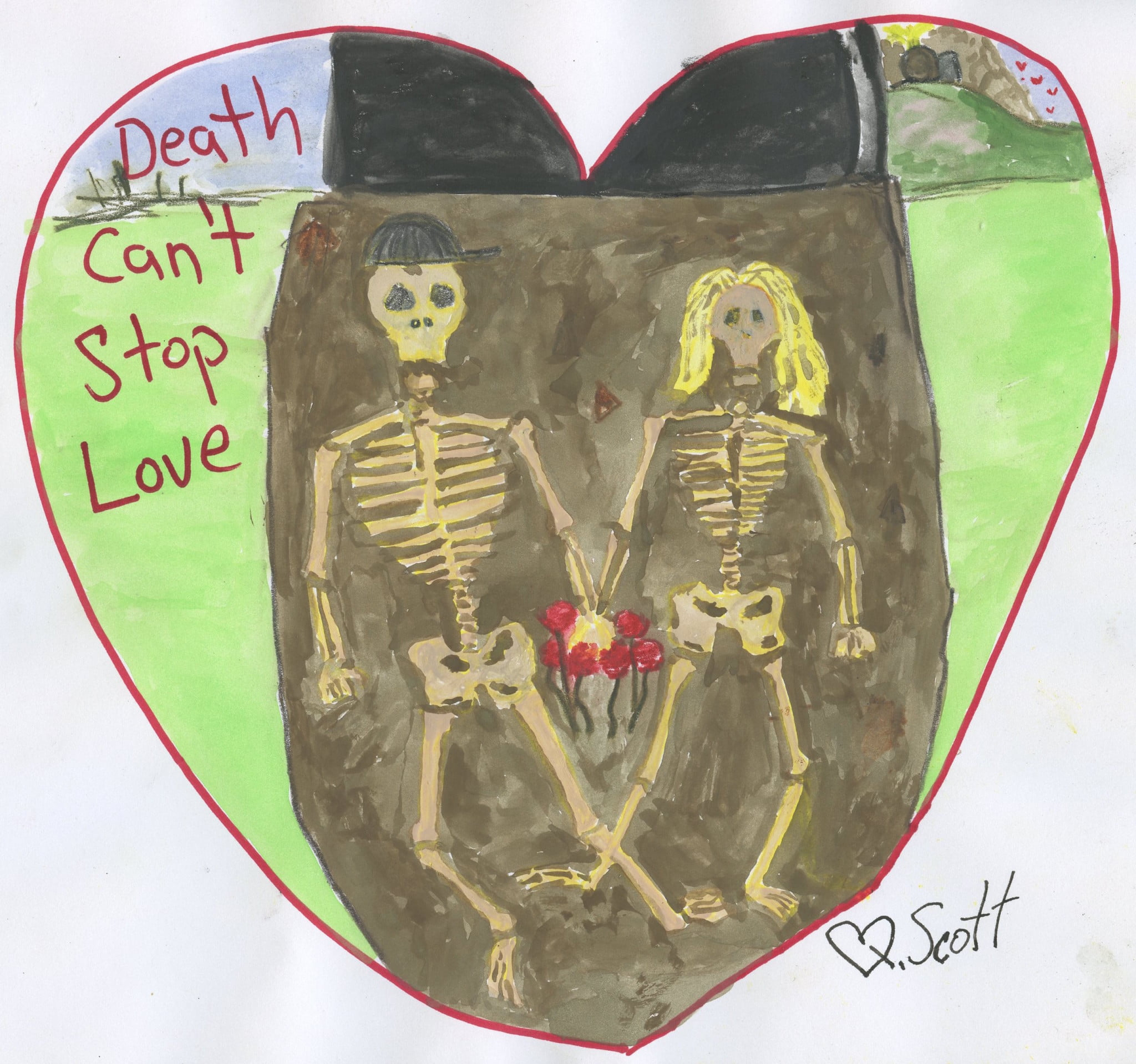 Death can't stop love.