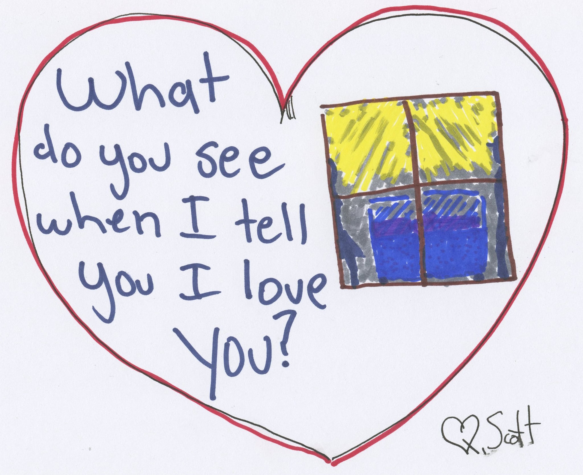 What do you see when I tell you I love you?