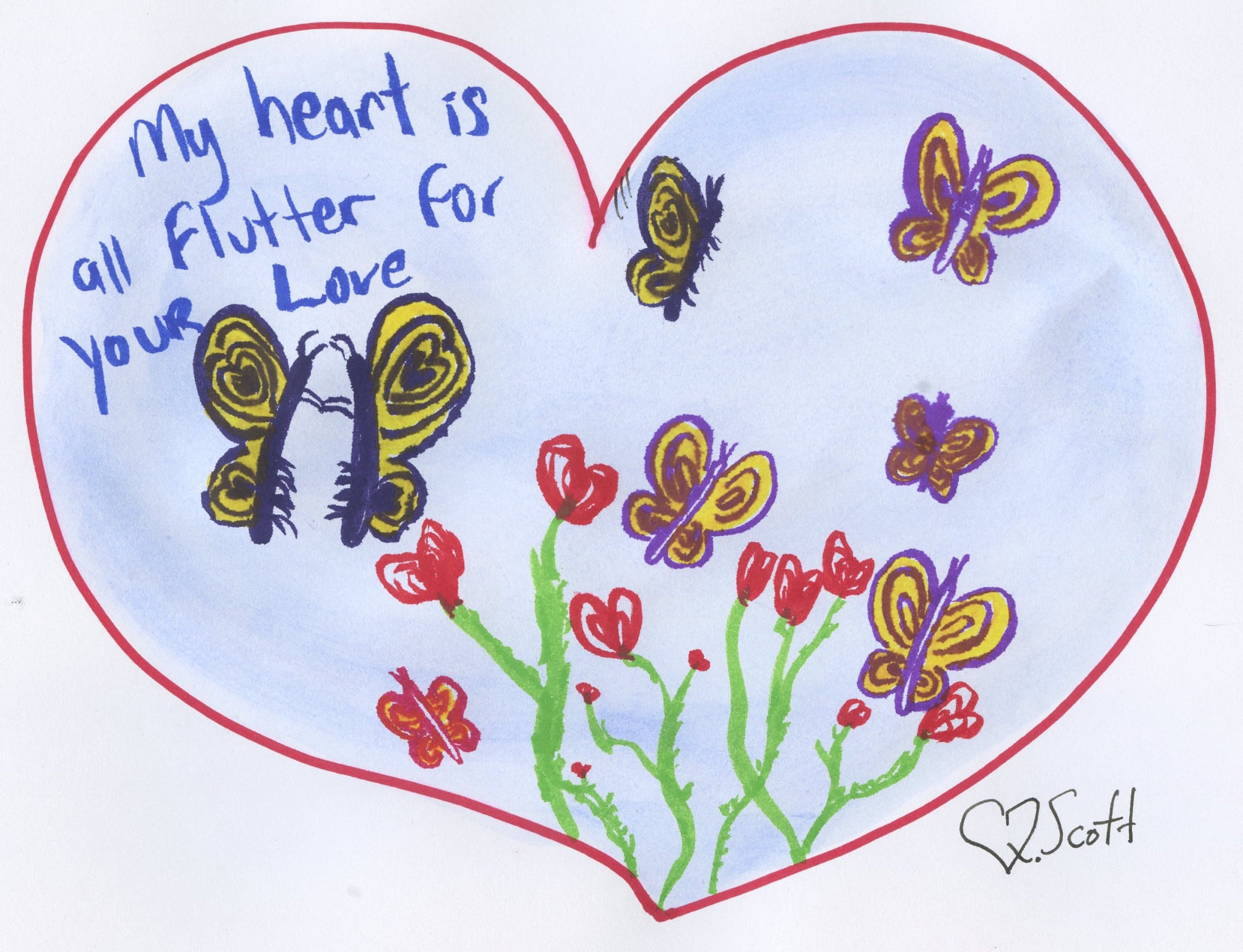 My heart is all flutter for your love
