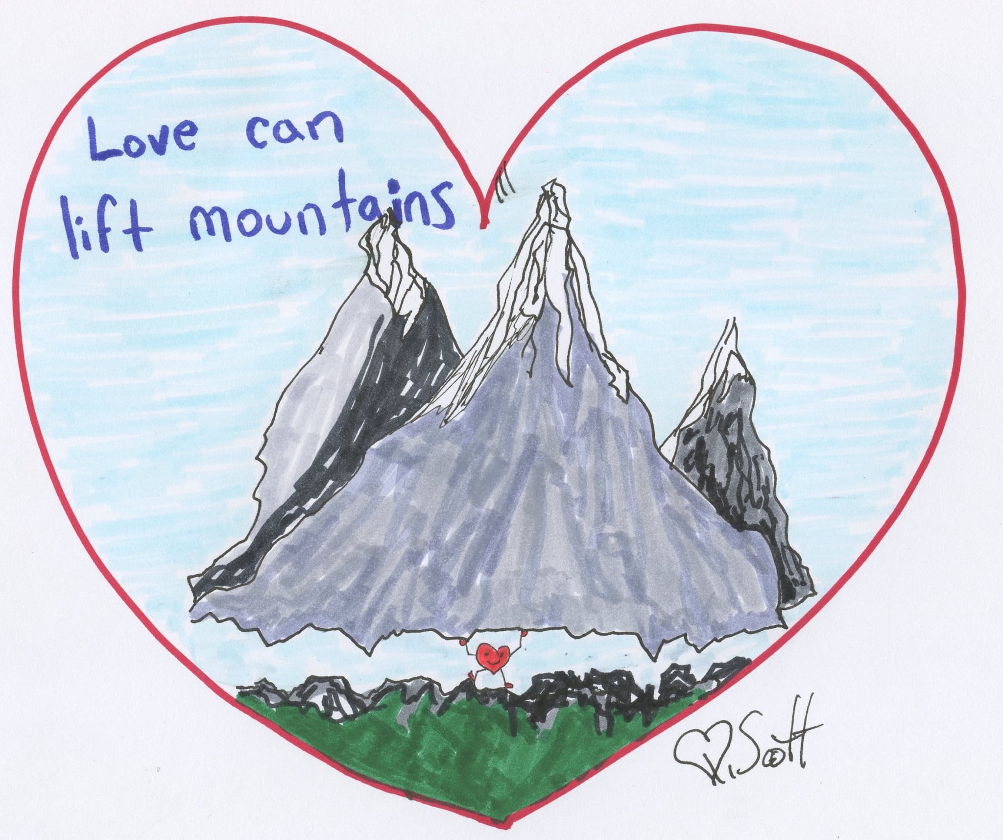 Love can lift mountains