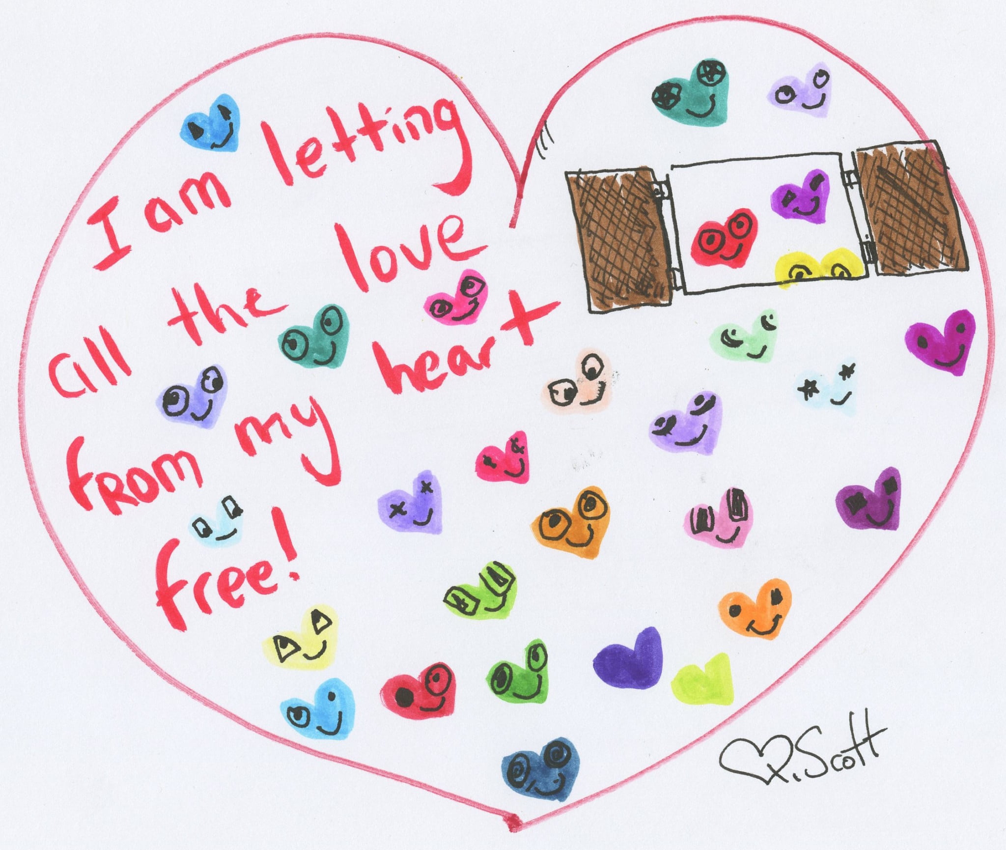 I am letting all the love from my heart free