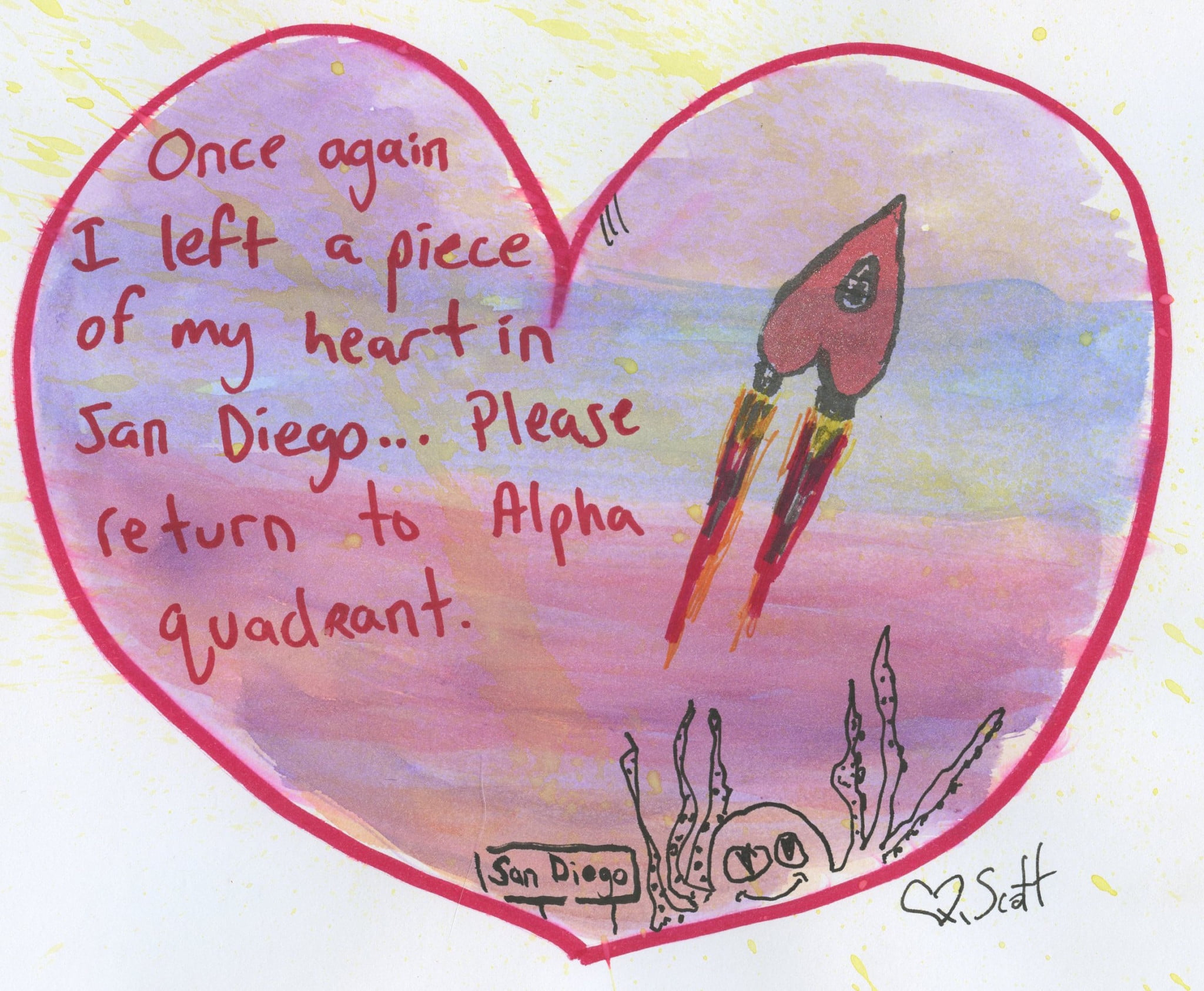 love, space, heart