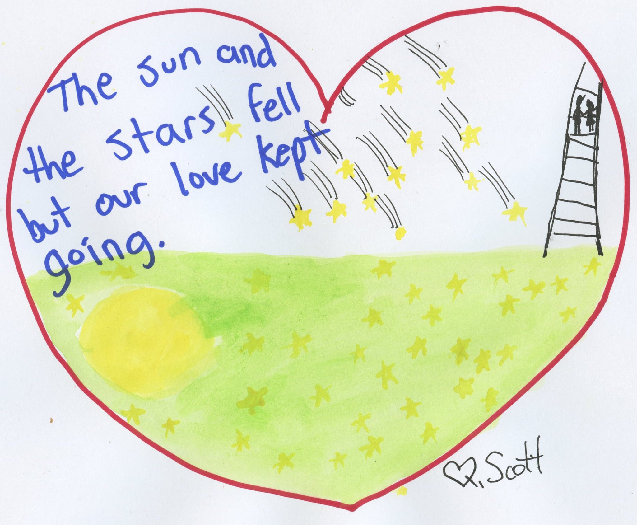 The sun and stars fell but our love kept going