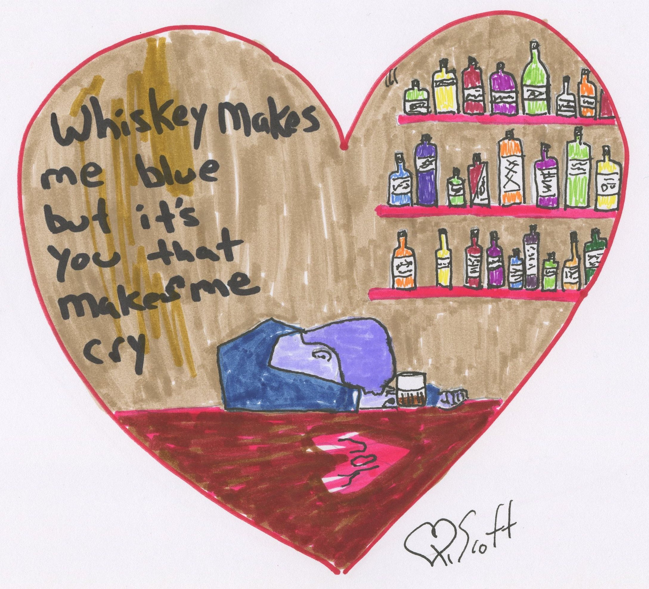 whiskey, blue., blues, love, heartbreak