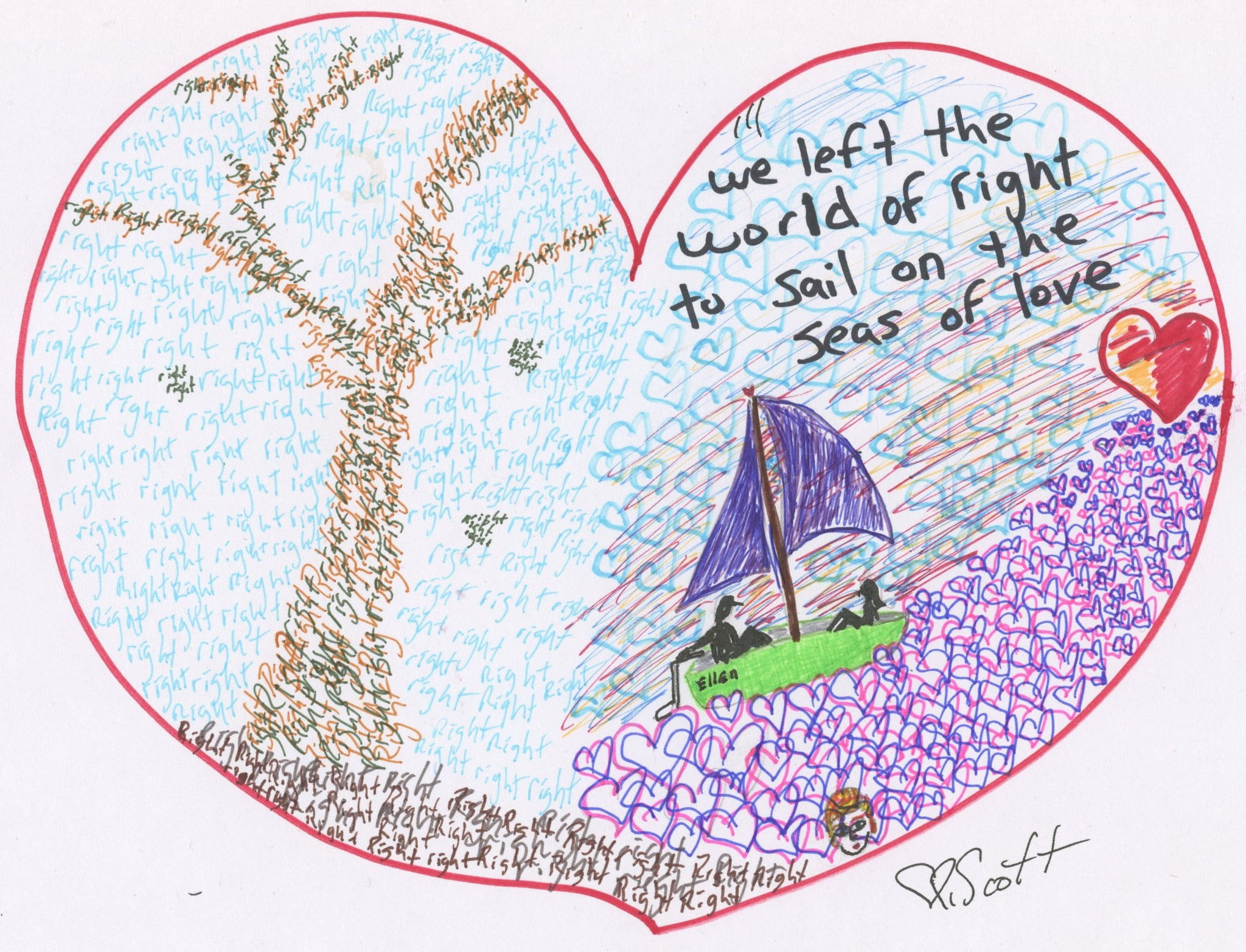 sail, love, right, left, christian