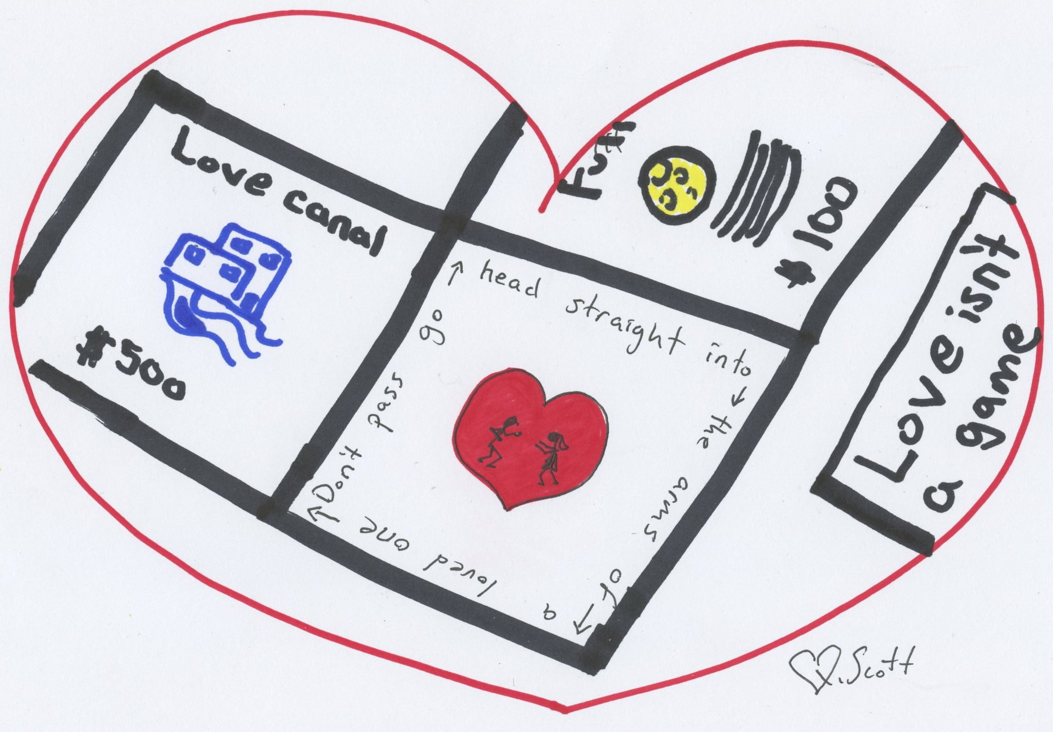 draw a heart, love heart