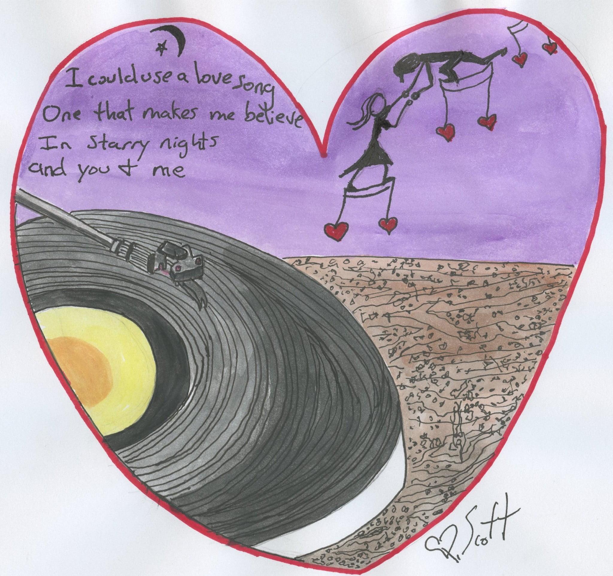 love song + heart