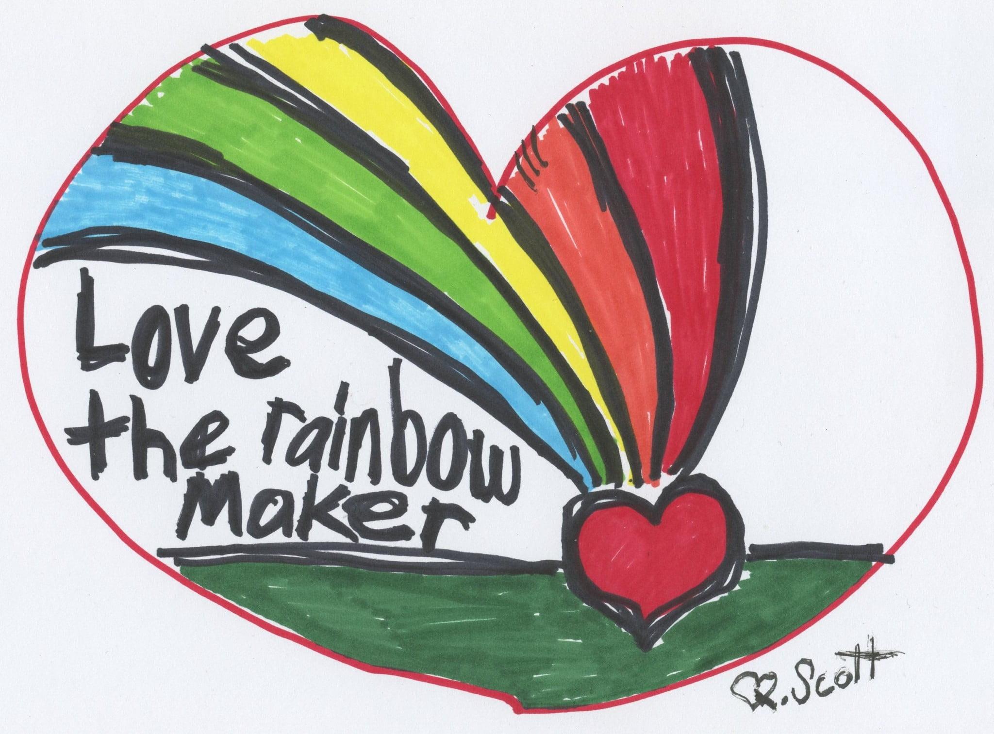 draw love heart