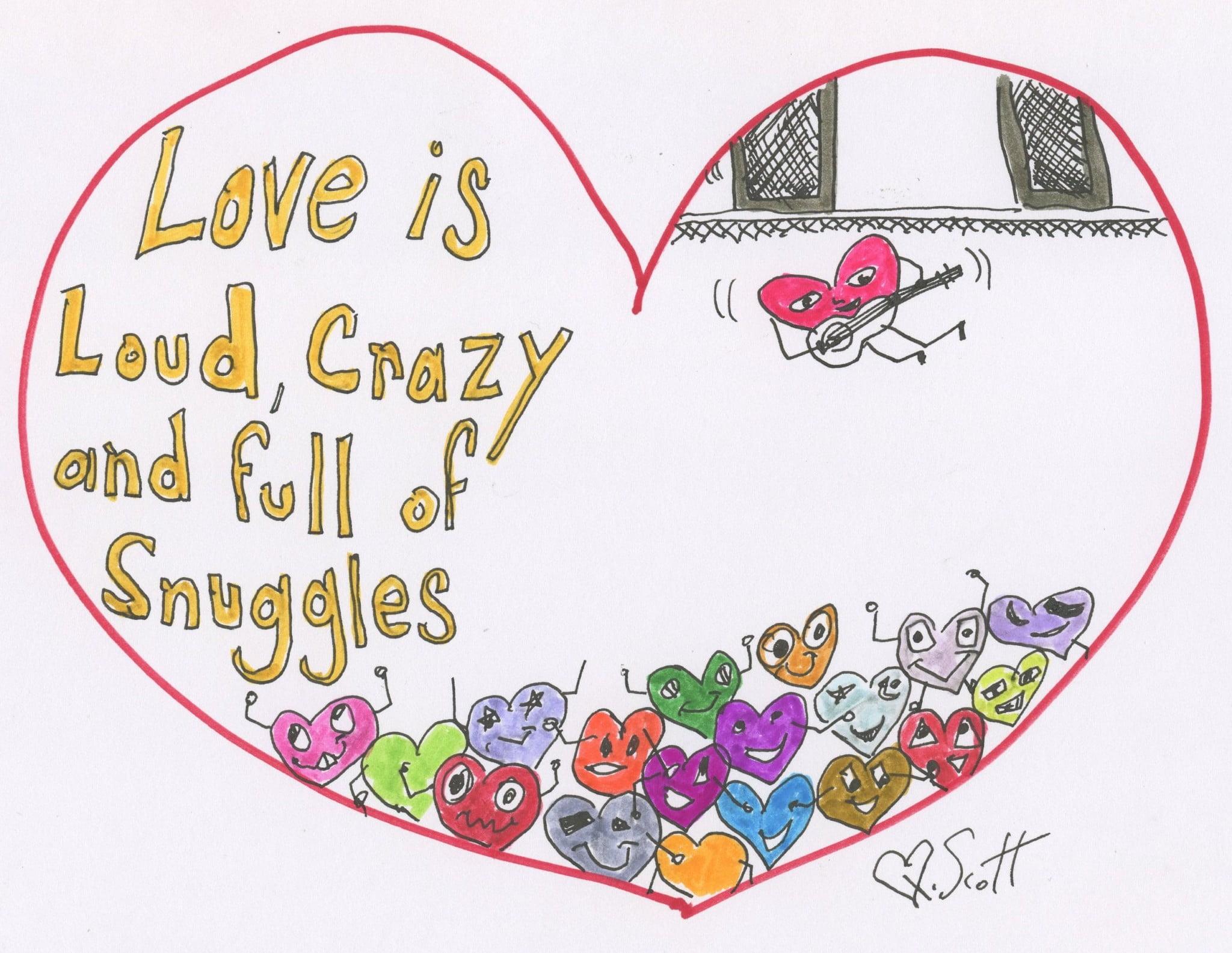 snuggles, love