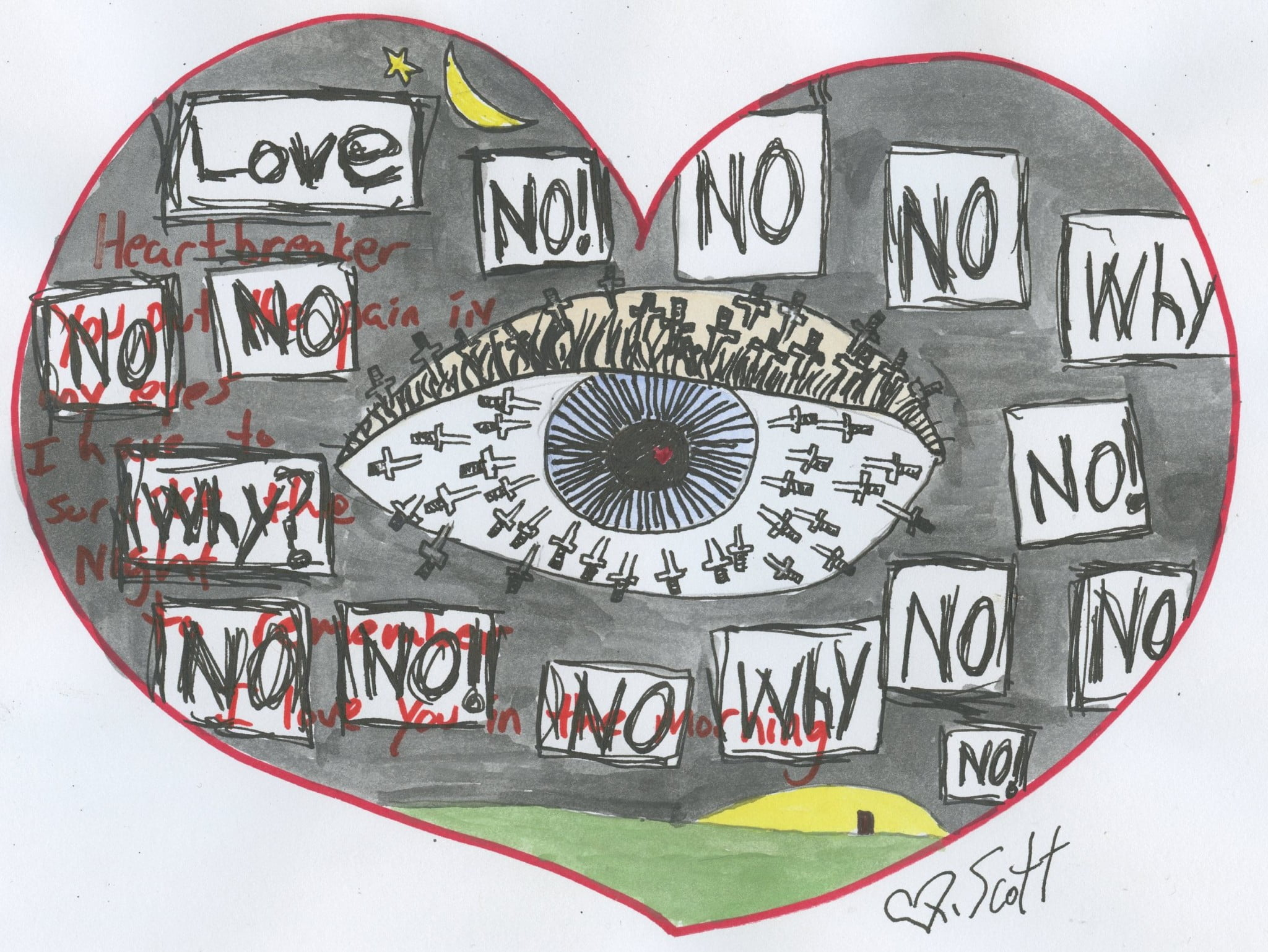 love heart broken