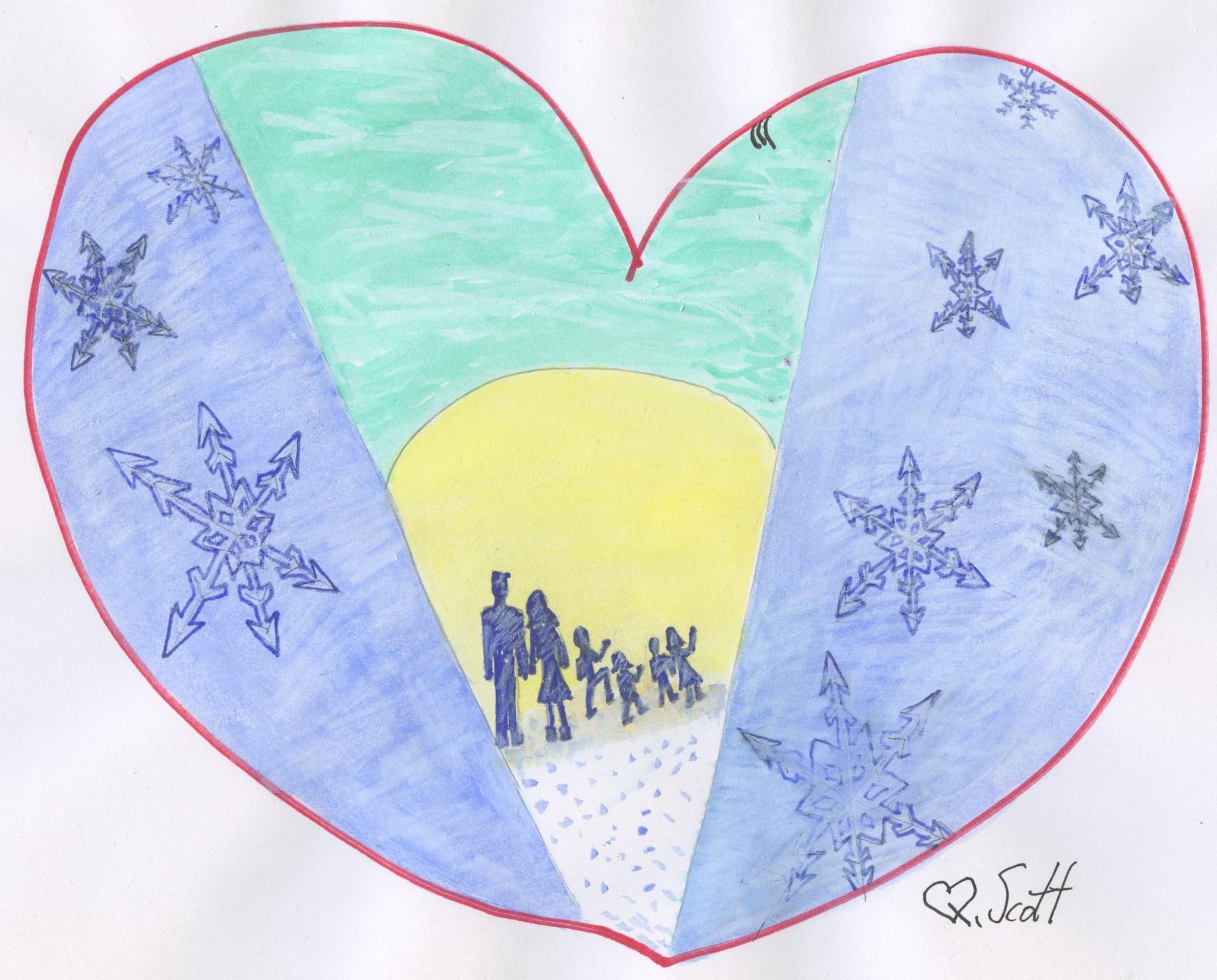snow day, snowing, love
