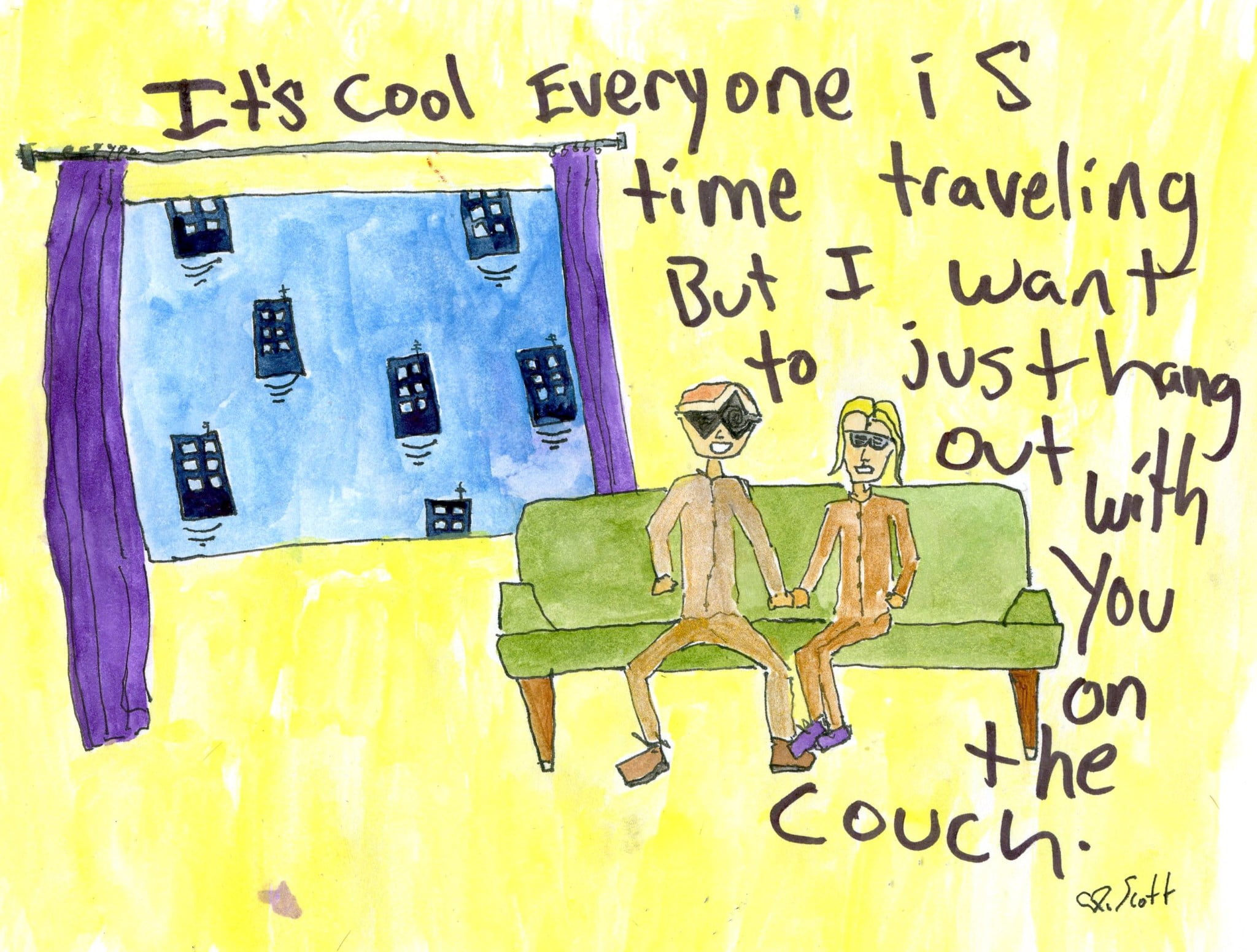 time travel art