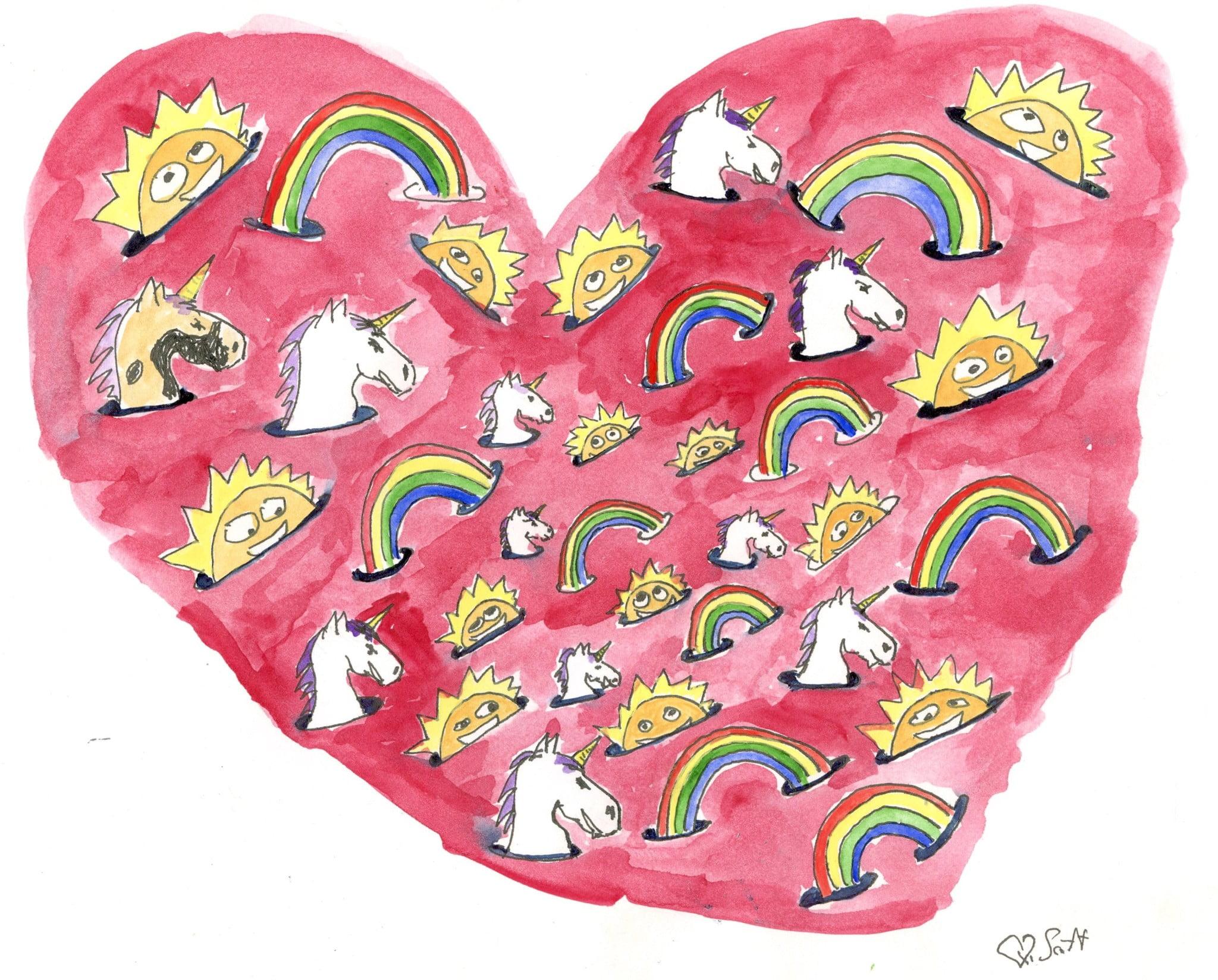 unicorns, rainbows and sunshine